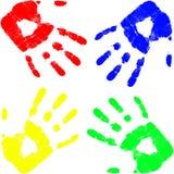 Mão da cor do vetor Imagem de Stock Royalty Free