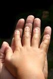 Mão da criança Foto de Stock