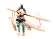 Mão da criança - aviões e pesca à corrica feitos Imagem de Stock