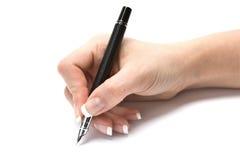 Mão da escrita Fotos de Stock Royalty Free