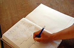 Mão da escrita Imagens de Stock