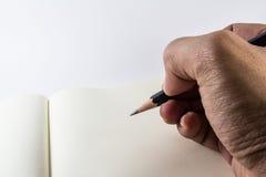Mão da escrita Foto de Stock Royalty Free