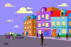 Mão da ilustração do estilo dos desenhos animados do vetor tirada ilustração stock