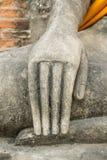 Mão da imagem da ruína da Buda Foto de Stock