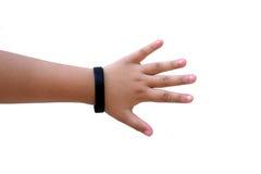 Mão da jovem mulher isolada no fundo branco Imagens de Stock Royalty Free