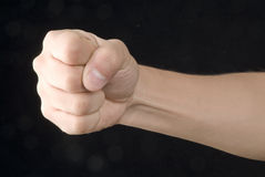 Mão da luta imagens de stock