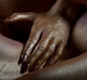 A mão da menina Imagens de Stock