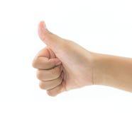 Mão da menina que dá como fotografia de stock royalty free