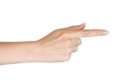 Mão da mulher. imagem de stock