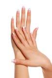 Mão da mulher de Beautifull. Imagem de Stock