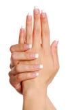 Mão da mulher de Beautifull. Fotos de Stock