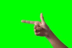 Mão da mulher de negócio Imagem de Stock