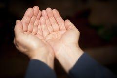 Mão da oração Fotografia de Stock Royalty Free