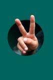 Mão da vitória Fotos de Stock Royalty Free