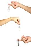 mão das chaves Fotografia de Stock Royalty Free