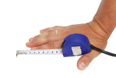 mão de 10 cm fotografia de stock