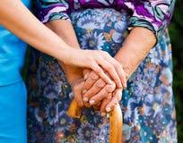 Mão de apoio Fotografia de Stock