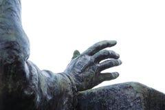 Mão de bronze de uma estátua Fotografia de Stock