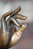 Mão de Buddha foto de stock