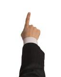 Mão de Businesman com trajeto de grampeamento foto de stock royalty free