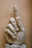 A mão de Constantim Imagem de Stock Royalty Free