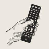 Mão de controle remoto Ilustração do vetor ilustração stock