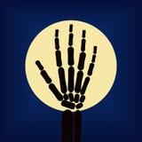 Mão de esqueleto preta Ilustração do vetor do objeto Foto de Stock