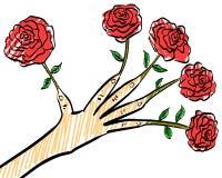 Mão de florescência Fotos de Stock Royalty Free