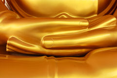 Mão de Glonden da Buda tailandesa fotos de stock royalty free