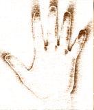 Mão de Grunge Imagem de Stock