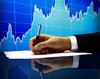Mão de homem de negócio Fotos de Stock Royalty Free