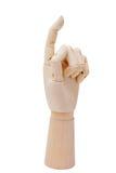 Mão de madeira foto de stock