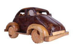 Mão de madeira - carro feito 2 foto de stock royalty free