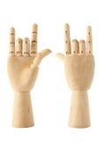 Mão de madeira do amor Imagem de Stock Royalty Free