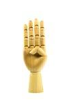 Mão de madeira no branco isolado Foto de Stock Royalty Free