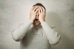 Mão de obra irritada do negócio Fotos de Stock