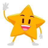 Mão de ondulação da estrela feliz Fotografia de Stock Royalty Free