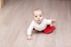 Mão de ondulação do bebê Foto de Stock