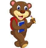 Mão de ondulação do urso de peluche dos desenhos animados Fotografia de Stock Royalty Free