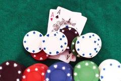 Mão de póquer de vencimento Imagens de Stock