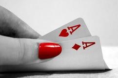 Mão de pôquer Imagens de Stock Royalty Free
