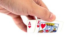 Mão de pôquer Foto de Stock Royalty Free