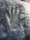Mão de pedra Fotografia de Stock