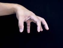 Mão de Pupeteer Foto de Stock