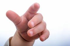 Mão de um bebê Fotografia de Stock