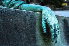 Mão de uma estátua com o pulso bent_Horizontal Imagem de Stock Royalty Free