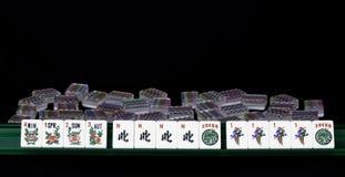 Mão de vencimento de Mahjong com quarto para o texto. Fotografia de Stock