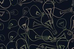 Mão decorativa ilustrações tiradas da ampola Papel de parede, visão, textura & detalhes ilustração stock
