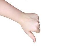 Mão-desagrado imagem de stock