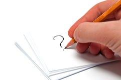 A mão desenha um ponto de interrogação Fotografia de Stock Royalty Free